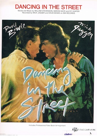 Image for Dancing In The Street. Recorded by Mick Jagger and David Bowie