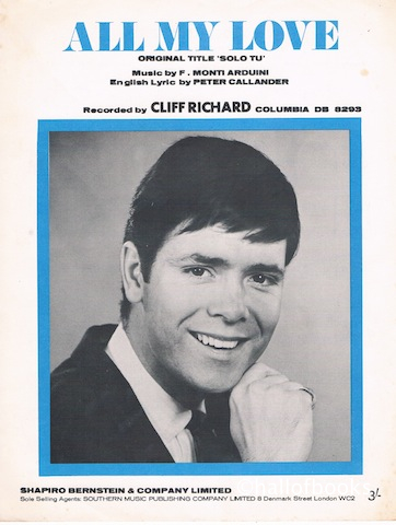 "Image for ""All My Love (Solo Tu), recorded by Cliff Richard"""