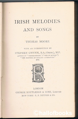 Image for Irish Melodies And Songs