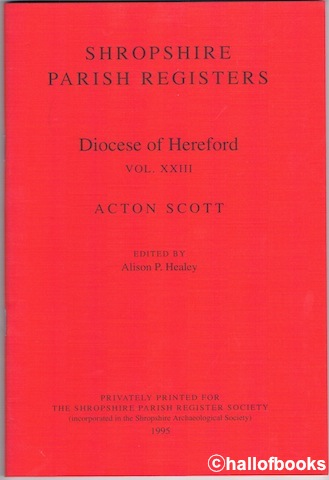 Image for Shropshire Parish Registers: Diocese Of Hereford Vol. XXIII Acton Scott