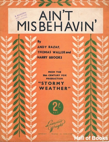 "Image for ""Ain't Misbehavin', from the Film 'Stormy' Weather'"""