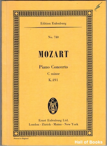 Image for Concerto C Minor for Pianoforte and Orchestra. K. 491