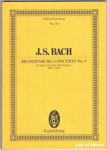 Image for Brandenburg Concerto No. 4: G major/G-Dur/Sol majeur. BMV 1049