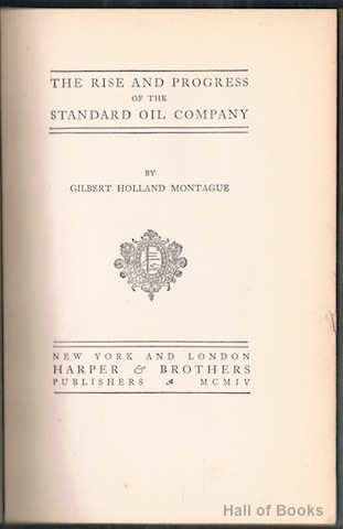 Image for The Rise And Progress Of The Standard Oil Company