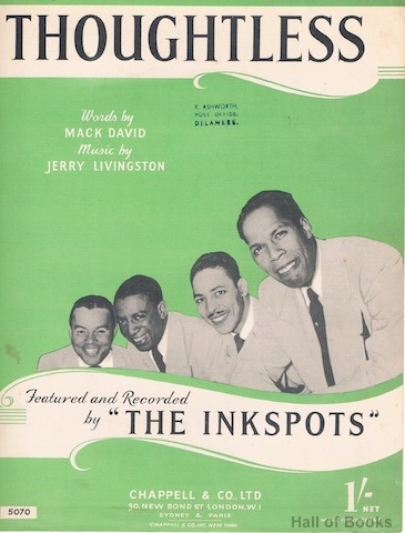"Image for ""Thoughtless, recorded by The Inkspots"""