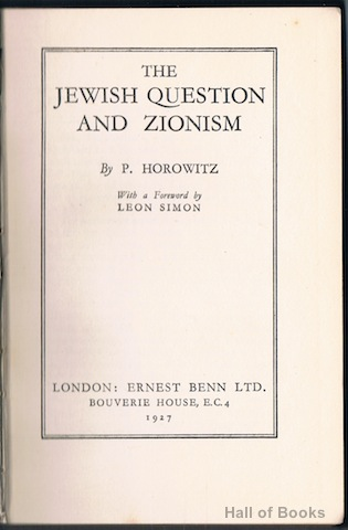 Image for The Jewish Question And Zionism