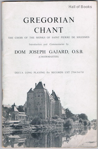 Image for Gregorian Chant: Choir Of The Monks Of The Abbey Of Saint Pierre De Solesmes