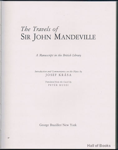 Image for The Travels Of Sir John Mandeville: A Manuscript In The British Library