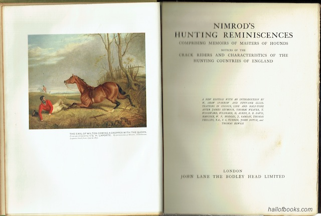"Image for ""Nimrod's Hunting Reminiscences: Comprising Memoirs Of Masters Of Hounds, Notices Of The Crack Riders And Characteristics Of The Hunting Countries Of England"""