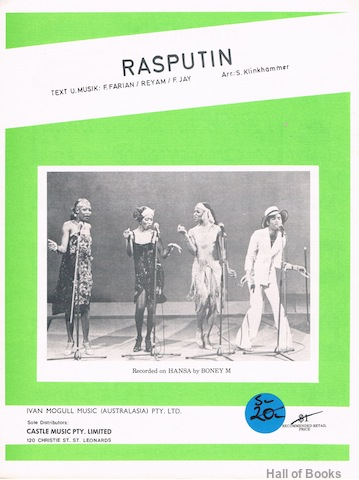 "Image for ""Rasputin, recorded by Boney M"""