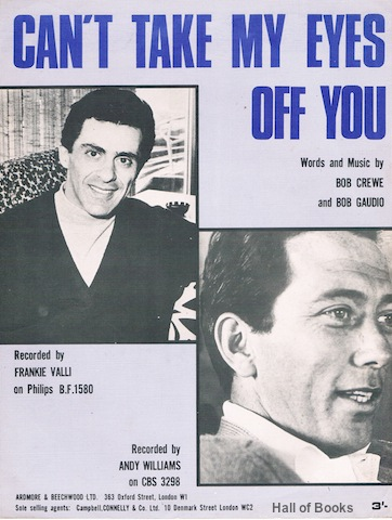 "Image for ""Can't Take My Eyes Of You, Recorded By Frankie Valli on Philips and Andy Williams on CBS"""