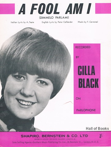 "Image for ""A Fool Am I (Dimmelo Parlami), Recorded By Cilla Black"""
