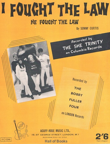 Image for I Fought The Law (He Fought The Law). Recorded By The She Trinity  and The Bobby Fuller Four