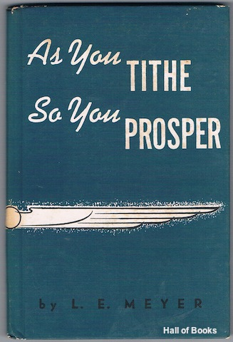 Image for As You Tithe So You Prosper: A Series Of Four Lessons In Tithing
