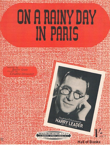 "Image for ""On A Rainy Day In Paris, Featured and Broadcast by Harry Leader and his Orchestra"""