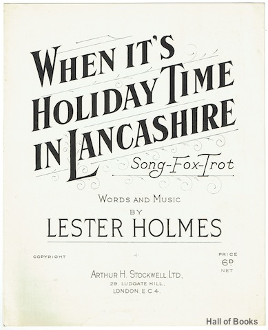 Image for When It's Holiday Time In Lancashire: Song Fox-Trot