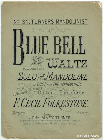 "Image for ""Blue Bell Waltz: Composed As A Solo For Mandoline, Or Duet For Two Mandolines With Accompaniments For Guitar Or Pianoforte"""