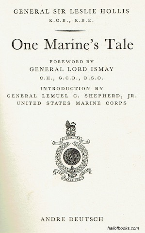 Image for One Marine's Tale