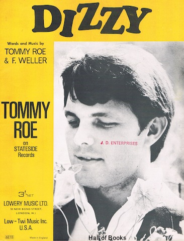"""Dizzy, Recorded by Tommy Roe"""
