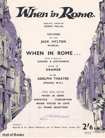 "Image for ""When In Rome (Domenica E Sempre Domenica), featured in the Jack Hylton Musical: 'When In Rome."""""""