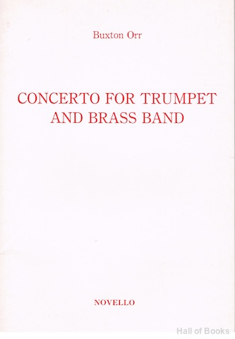 Image for Concerto For Trumpet And Brass Band: Arranged For Trumpet And Piano By The Composer
