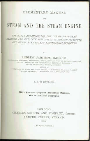 Image for Elementary Manual On Steam And The Steam Engine