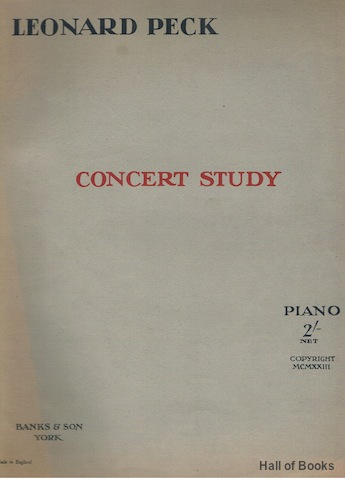 Image for Concert Study. Piano solo