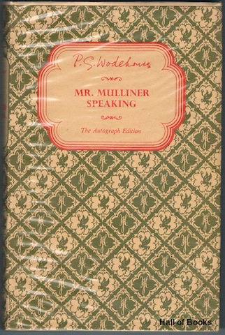 Image for Mr. Mulliner Speaking (The Autograph Edition)