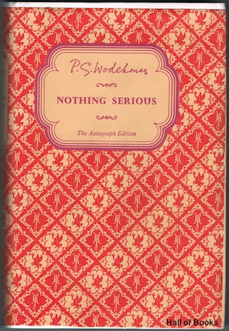 Image for Nothing Serious (The Autograph Edition)