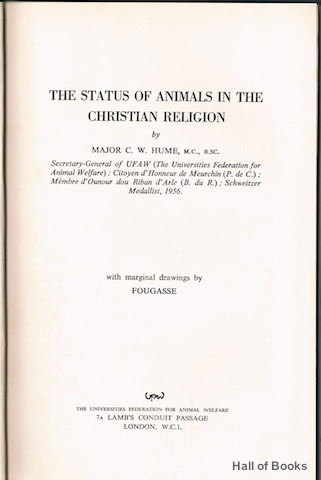 Image for The Status Of Animals In The Christian Religion