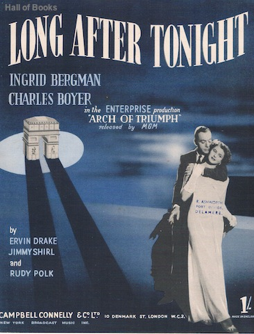 "Image for ""Long After Tonight from the MGM movie """"Arch Of Triumph"""" with Ingrid Bergman and Charles Boyer"""