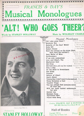Image for Alt! Who Goes Theer? Performed by Stanley Holloway. (Francis & Day's Musical Monologues)