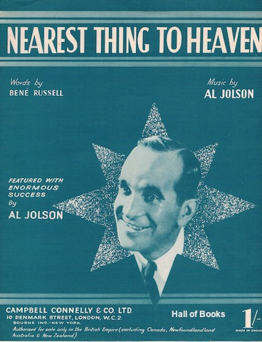Image for Nearest Thing To Heaven: Featured With Enormous Success By Al Jolson