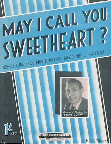 Image for May I Call You Sweetheart? Recorded And Broadcast by Steve Conway