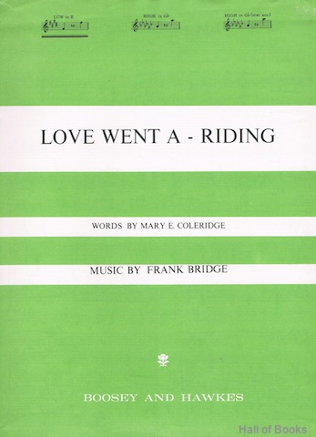 Image for Love Went A-Riding. Low Voice In E