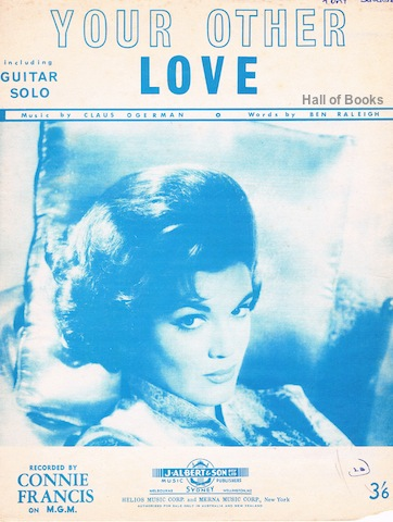 "Image for ""Your Other Love, Including Guitar Solo: Recorded By Connie Francis"""