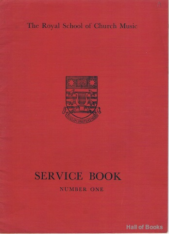 Image for Service Book Number One (The Royal School Of Church Music)