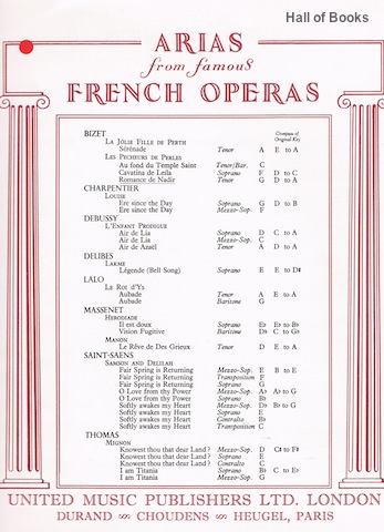 Image for Les Pecheurs De Perles: Romance de Nadir (Arias From Famous French Operas)