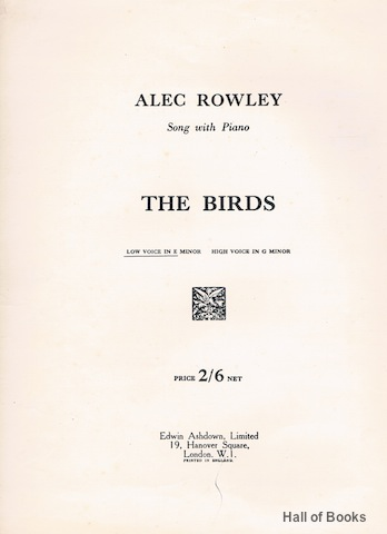 Image for The Birds: Song With Piano. Low Voice In E Minor