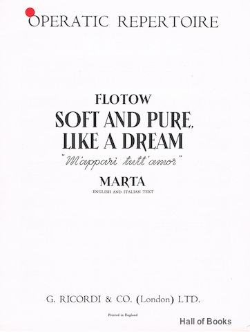 Image for Soft And Pure Like A Dream (M'Appari Tutt' Amor). Operatic Repertoire