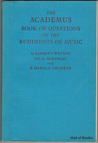 Image for The Academus Book Of Questions On The Rudiments Of Music