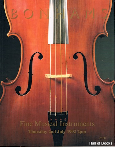 Image for Fine Musical Instruments. Thursday 2nd July 1992. Auction Catalogue