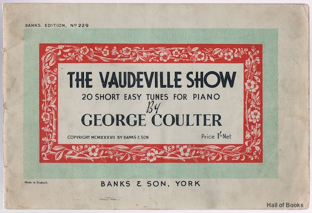 Image for The Vaudeville Show: 20 Short Easy Tunes For Piano