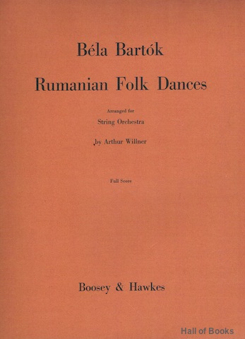 Image for Rumanian Folk Dances: Arranged For String Orchestra By Arthur Willner. Full Score