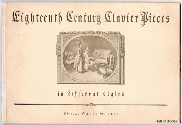 Image for Eighteenth Century Clavier Pieces In Different Styles