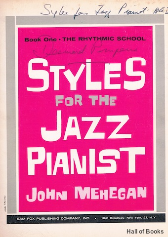 Image for Styles For The Jazz Pianist Book One: The Rhythmic School