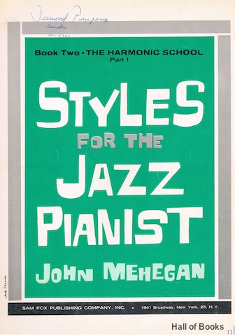 Image for Styles For The Jazz Pianist Book Two: The Harmonic School Part 1
