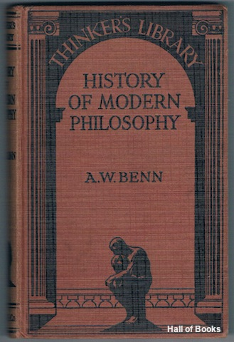 Image for History Of Modern Philosophy (The Thinker's Library)