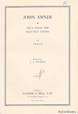 Image for Thus Sings The Heav'nly Choir For S.S.T.A.B.