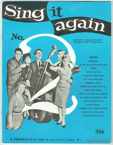 Image for Sing It Again No.2: A selection of songs featured in the populat B.B.C. Programme
